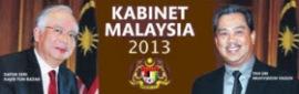 SENARAI PENUH MENTERI & TIMBALAN MENTERI KABINET BARU MALAYSIA TAHUN 2013