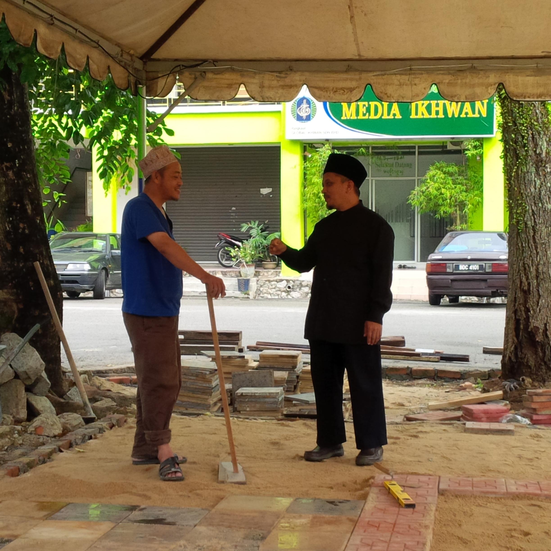 Kafe Laman Filem Under Construction